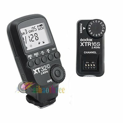 Godox XT32C 2.4G Wireless Flash Trigger 1/8000s + XTR-16S Receiver For Canon【AU】