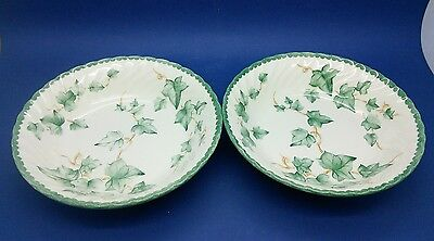 "Bhs Country Vine (Ivy) Pair Of 6.75"" Cereal / Pudding Bowls  Bowls"