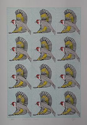 Limited edition and signed print of 'A Goldfinch Charm' by Ann-Marie Ison