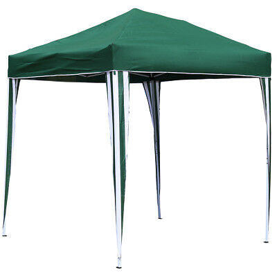 Charles Bentley 2 x 2m Pop Up Gazebo Shelter Party Marquee Canopy Tent - Green