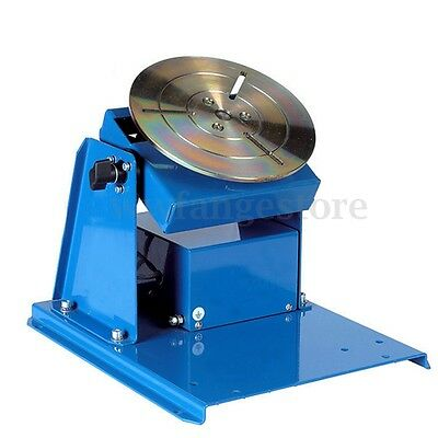 110V 50HZ Rotary Welding Positioner Turntable Table 3 Jaw Lathe Chuck w/ Pedal
