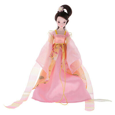 Flexible 10 Joints Fashion Costume Vinyl Doll Various Posture Home Decor Toy