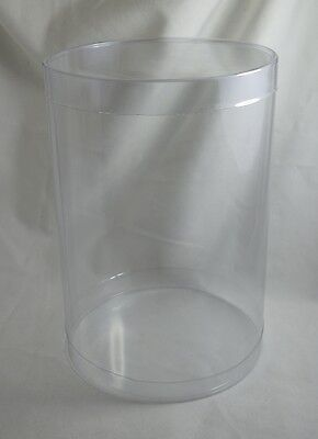 1 PVC Cylinder Tube Display Case Tube with Lid - 140 mm x 200 mm - Display Case