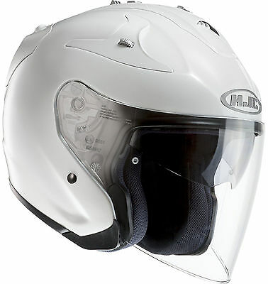 HJC FG-Jet Open-Face Motorcycle Helmet Gloss White
