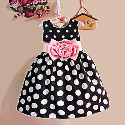 Kids Toddler Baby Girl Summer Princess Tutu Dresses Party Pageant Prom Ball Gown
