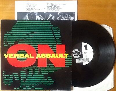 "VERBAL ASSAULT 'On' 1989 Rare US Punk 33rpm 12"" 5 Track Vinyl EP EXCELLENT"