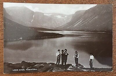 Tomintoul - Group Of Boys at Loch Avon RP c1920