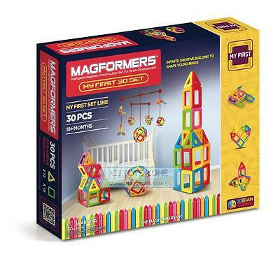 My First Magformers 30 Pieces Educational Shapes 3D Building Construction Toy