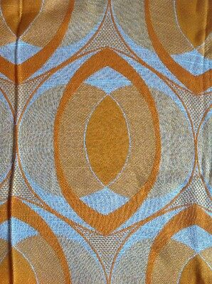 70er Vorhang Stoff Fabric Curtain 70s Orange Gardinen Vintage Pop Art