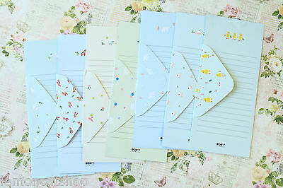 Time Diary cartoon stationery kawaii cute writing letter paper & envelopes set