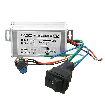 DC 30A 12V SoftStart Reversible Motor Speed Control PWM Controller PWM
