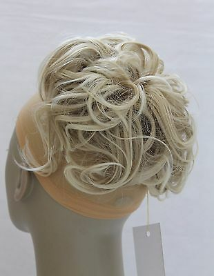"""New Large Synthetic Elastic Hair piece Updo Scrunchies Bun Extensions Wavy 7"""""""