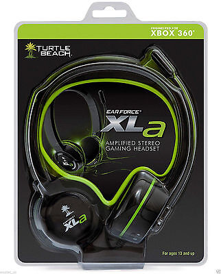 Genuine Turtle Beach Ear Force XLa Amplified Stereo Gaming Chat Headset Xbox 360
