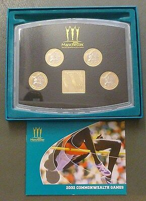 Manchester Commonwealth Games 2002 4-Coin Royal Mint UK Proof £2 Boxed Set
