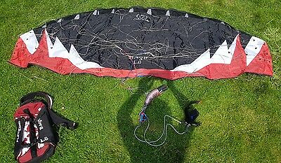 Flexifoil Rage 1.8m power kite perfect working order with prolink handles& lines
