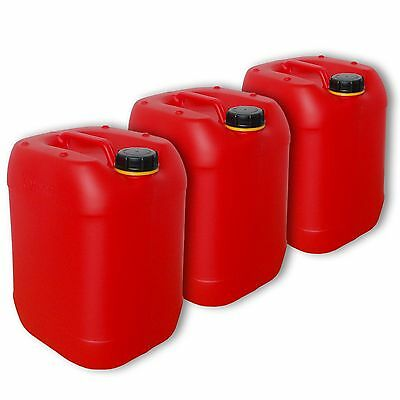 3 x 20 l  Wasserkanister rot, behälter,Kanister,Camping (3x22025)