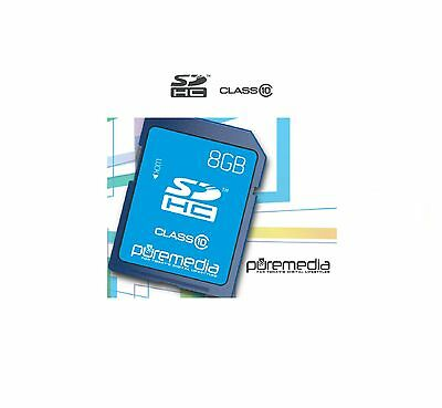 NEW Puremedia 8GB SD SDHC Memory Card Class 10 for Camera/Laptop/Camcorder HC