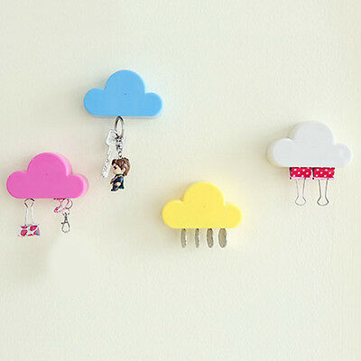 Practical Cloud Shaped Key Holder Magnetic Home Wall Mounted Shelf Rack Storage