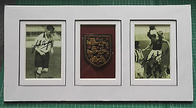 Circa 1951-1953 ENGLAND PLAYER'S BLAZER THREE LIONS GOLD BRAID BADGE IN DISPLAY
