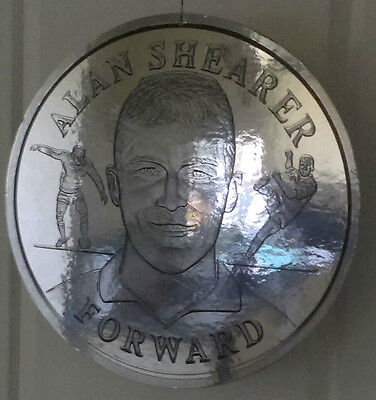 "1998 World Cup Finals - England - Alan Shearer - Special Display 19"" Round Coin"