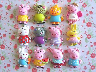 12 x Cute Peppa and Friends Flatback Resin Embellishment Crafts Decoden Cabochon
