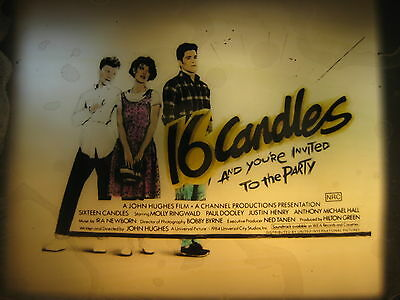 16 CANDLES 1984 Orig Australian cinema movie projector glass slide John Hughes