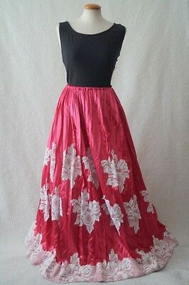 Vintage ex theatre pink lace victorian steampunk costume skirt Size 10-18