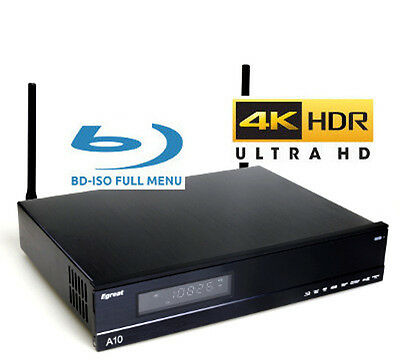 "Egreat A10 3.5"" HDD Ultra-HD 4K HDR UHD+BD+DVD ISO FULL MENU Android Media Box"