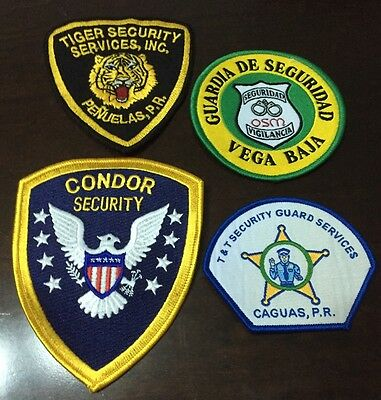 Puerto Rico Police Patch...four Different Security Police