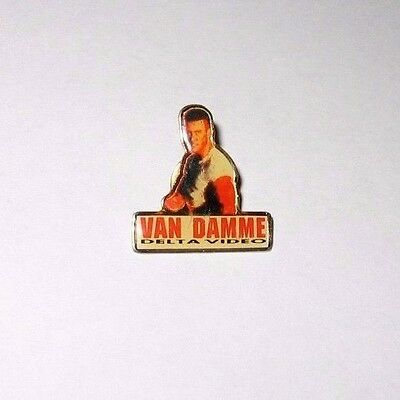 Rare Jean Claude Van Damme Kickboxer Metal Movie Promo Pin #1 Bloodsport Button