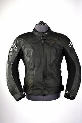 Richa Aimee Ladies Leather Motorcycle Jacket Black Touring Womens CE Armoured