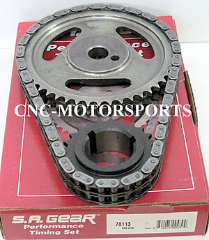 Oldsmobile 260F 350R 400 403 425 455 .250 Double Roller Timing Chain 3 Keyway