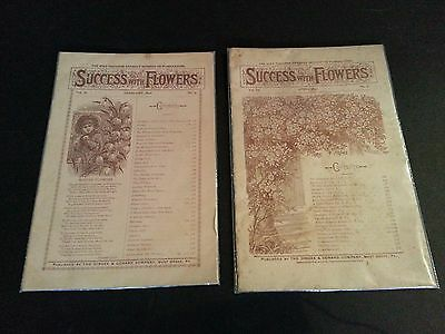 3 Success With Flowers Instructional Booklets - Feb. 1892, April 1893, Feb. 1895