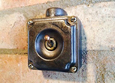 Run 18 Vintage Walsall 1 Gang Cast Iron Light Switch Brass Toggle Crabtree