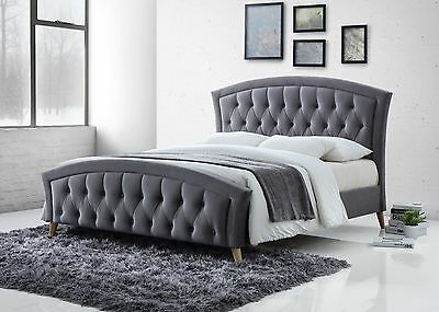 Fabric Bed frame 4ft6 Double 5ft KingSize Mattress Option