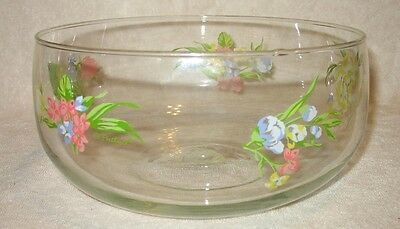 D. Porthault - Rare - Large Glass Floral Round Salad Serving Bowl - Mint