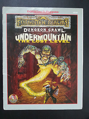 "AD&D ""UNDERMOUNTAIN The LOST LEVEL"" FORGOTTEN REALMS DUNGEON CRAWL TSR #9519 VNC"