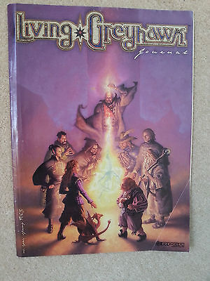 Ad&d Living Greyhawk Journal  Rare Tsr  Spring /august 2000 Rpga Network