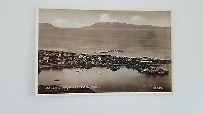 Scottish Black & White postcard. Mallaig from Mallaig Vaig
