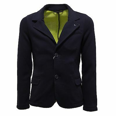 7560S giacca bimbo ARMANI JUNIOR blazer blu jacket kid