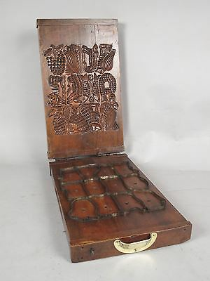 Exceptional and original walnut cookie mould Dutch/France circa 1850