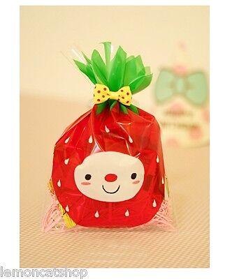 Strawberry Face cello cookie bags kawaii plastic bag sweet packaging gift wrap