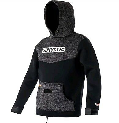 Mystic Voltage Sweat Hoody Wake Kite Surf Black Mens Mystic Battle Jacket L Xl