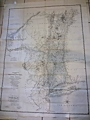 Chorographical Large Antique Map New York Province 1779 By Sauthier, R H Pease
