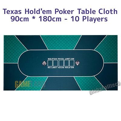 Poker Table Cloth Casino Table Game Cover Layout 90 x 180 cm Board Felt Table