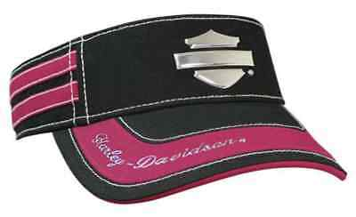 Harley-Davidson Women's Liquid Metal Bar & Shield Visor, Black/Fuchsia VIS114491