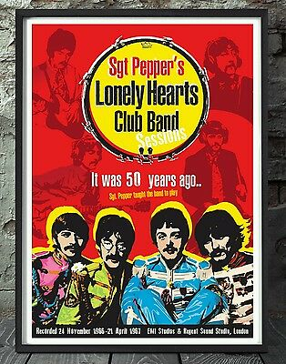 The Beatles poster. Celebrating 50 years sgt peppers. Specially created.