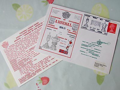 ARSENAL Champion of Champions Double Winners 1970 1971 FOOTBALL First Day Cover
