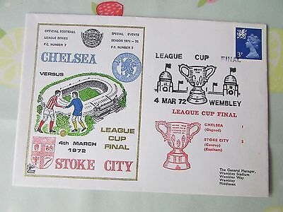 CHELSEA v STOKE City League Cup Final 1972 FOOTBALL First Day Cover
