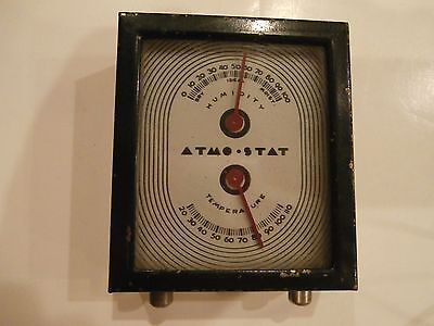 Art Deco 1930's ATMO-STAT Room Thermometer Humidity Temperature FREE SHIPPING